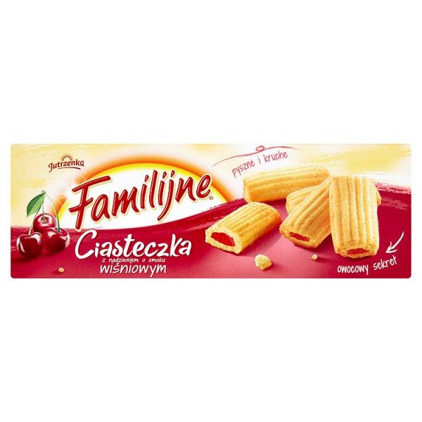 Familijne Ciasteczka z nadzieniem o smaku wiśniowym 160 g