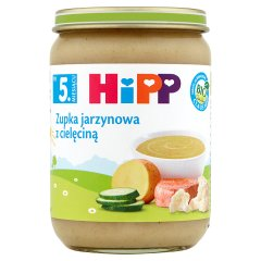 Zupka Hipp jarzynowa z cielęciną.