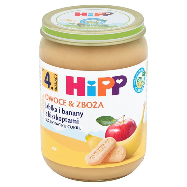 Deser Hipp jabłka i banany z biszkoptami i banany z biszkoptami