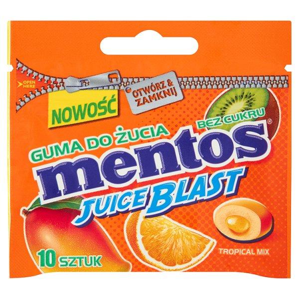 Guma do żucia mentos juice blast tropical mini