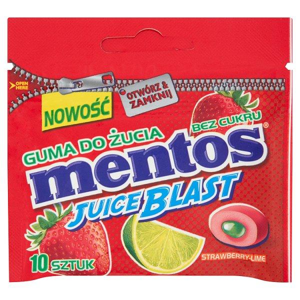 Guma do żucia mentos juice blast strawberry mini