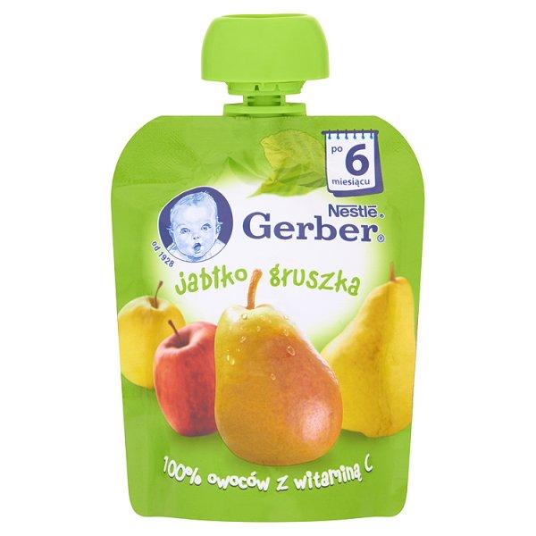 Gerber jablko gruszka tubka 90g