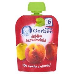Gerber jabłko brzoskwinia tubka 90g
