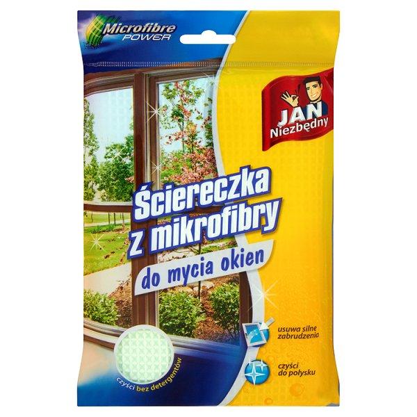 Ściereczka z mikrofibry do mycia okien Jan Niezbędny
