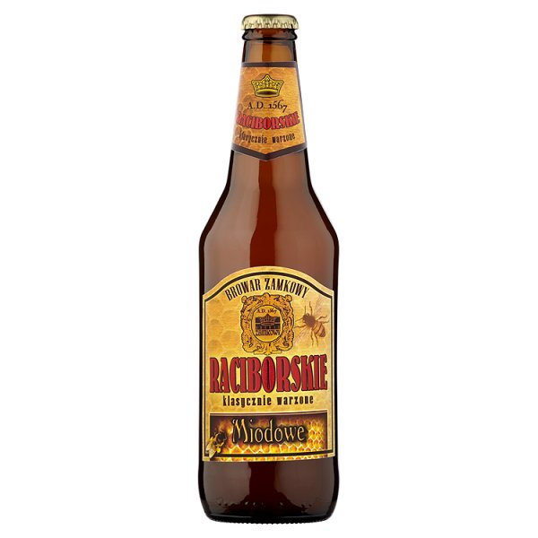 Piwo raciborskie miodowe butelka/0,5l Piwo raciborskie miodowe butel