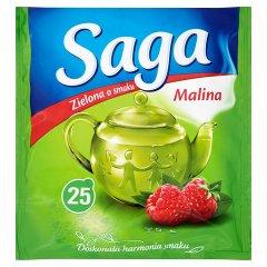 Herbata saga zielona malinowa 25*1,3g/32,5g