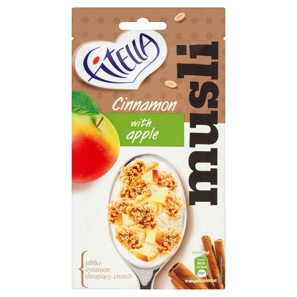 Płatki Fitella cynamonowe z kawałkami jabłka