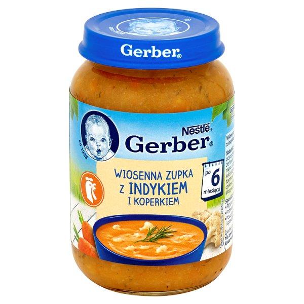 Zupka gerber kuchnia polska wiosenna zup. z indykiem i koperkiem/190g Zupka gerber kuchnia polska wi