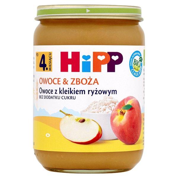 HiPP BIO Owoce & Zboża Owoce z kleikiem ryżowym po 4. miesiącu 190 g