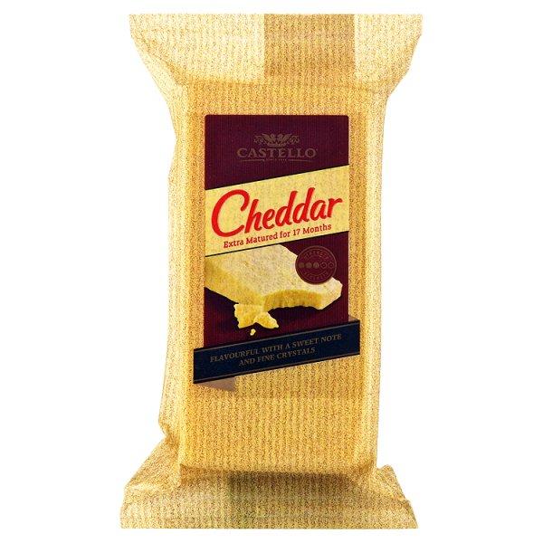 Castello Cheddar Extra Matured Ser pełnotłusty dojrzewający 200 g