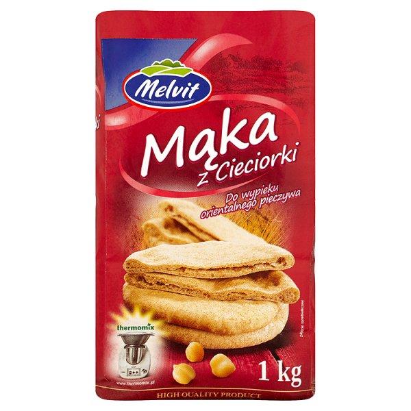 Melvit Mąka z cieciorki do wypieku orientalnego pieczywa 1 kg