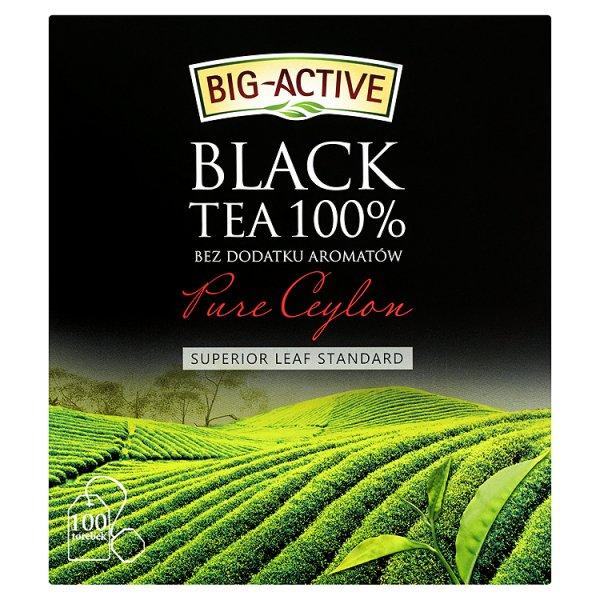 Big-Active Pure Ceylon Herbata czarna 100% 200 g (100 torebek)
