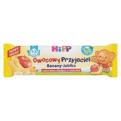 HiPP BIO Owocowy Przyjaciel Banany-Jabłka Owocowy batonik dla małych dzieci 1-3 lata 25 g