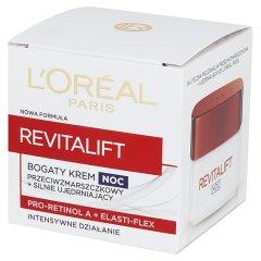 L'Oreal Paris Revitalift Bogaty krem przeciwzmarszczkowy na noc + silnie ujędrniający 50 ml