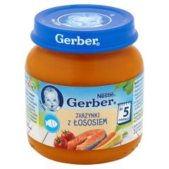 Obiad gerber jarzynki z rybą po grecku/130g
