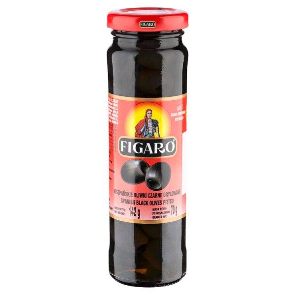 Figaro Hiszpańskie oliwki czarne drylowane 142 g