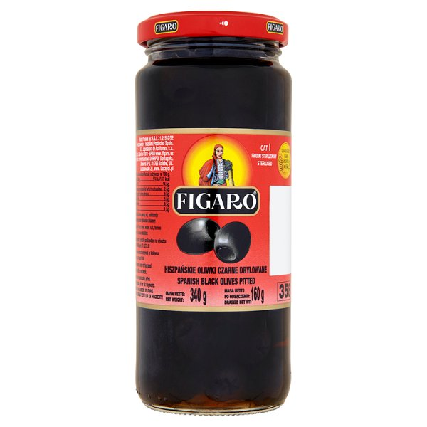 Figaro Hiszpańskie oliwki czarne drylowane 340 g