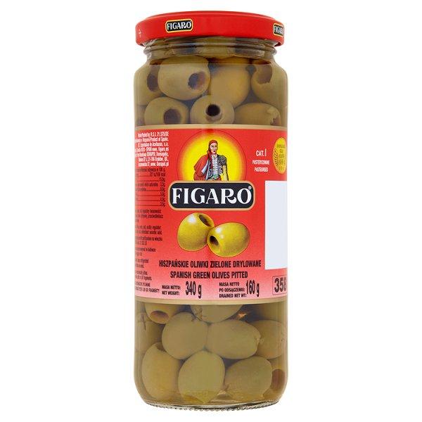 Figaro Hiszpańskie oliwki zielone drylowane 340 g