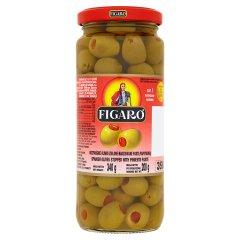 Figaro Hiszpańskie oliwki zielone nadziewane pastą paprykową 340 g