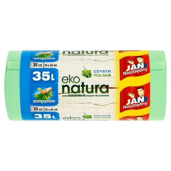 Worki Jan Niezbędny eko-natura zawiązywane 35L