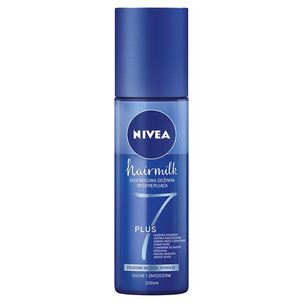 NIVEA Hairmilk Ekspresowa odżywka regenerująca do włosów o normalnej strukturze 200 ml