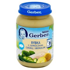 Danie Gerber Ziemniaki z gotowaną rybką, cukinią i brokułami