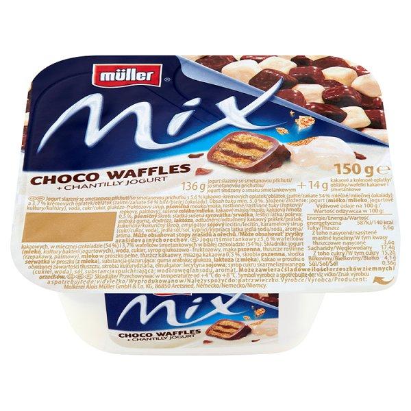 Jogurt Muller Mix choco waffles