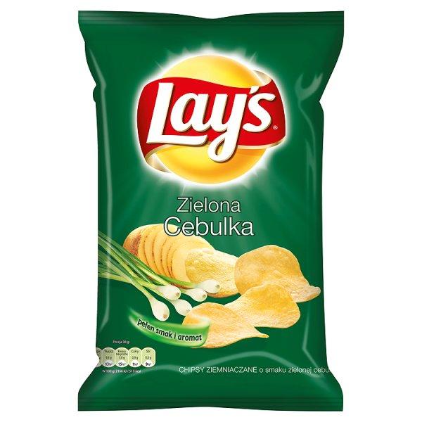 Chipsy lay's zielona cebulka