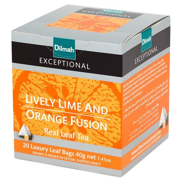 Herbata Dilmah Exceptional limonka i pomarańcze