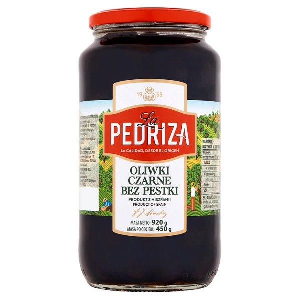 La Pedriza Oliwki czarne bez pestki 920 g