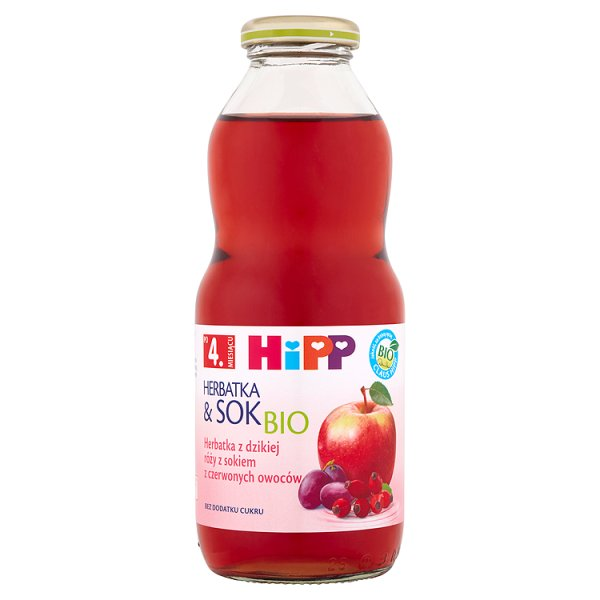 Herbatka Hipp   z dzikiej róży z sokiem z czerwonych owoców