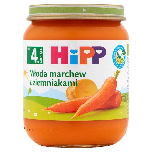 HiPP BIO Młoda marchew z ziemniakami po 4. miesiącu 125 g