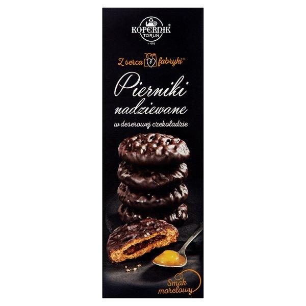 Kopernik Z serca fabryki Pierniki nadziewane w deserowej czekoladzie smak morelowy 145 g
