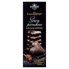 Pierniki w czekoladzie serce