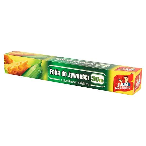 Folia do żywności Jan Niezbędny z ostrzem w pudełku 30m