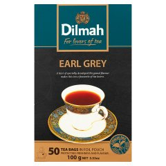 Dilmah Earl Grey Cejlońska czarna herbata z aromatem bergamoty 100 g (50 torebek)