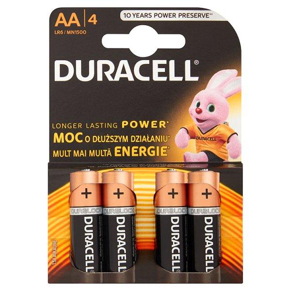 Baterie Duracell AA/LR6 4szt/op