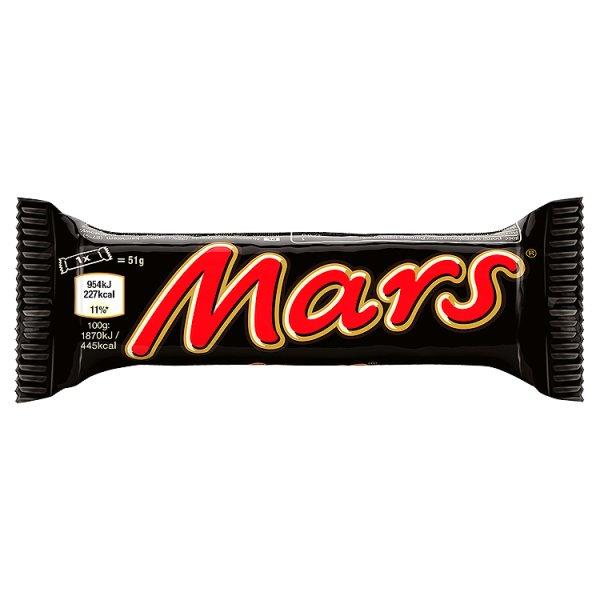 Mars Baton z nugatowym nadzieniem oblany karmelem i czekoladą 51 g