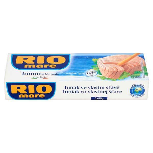 Rio Mare Tuńczyk w sosie własnym 3 x 80 g