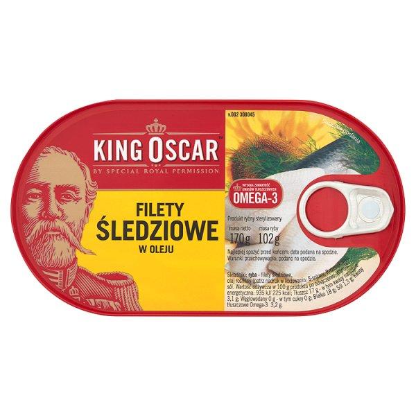King Oscar Filety śledziowe w oleju 170 g