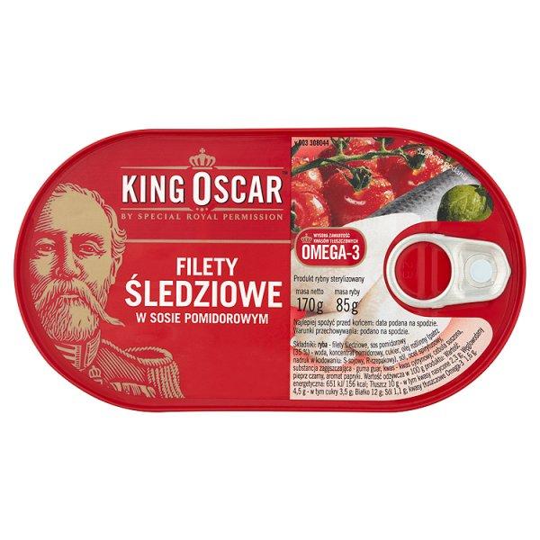 King Oscar Filety śledziowe w sosie pomidorowym 170 g