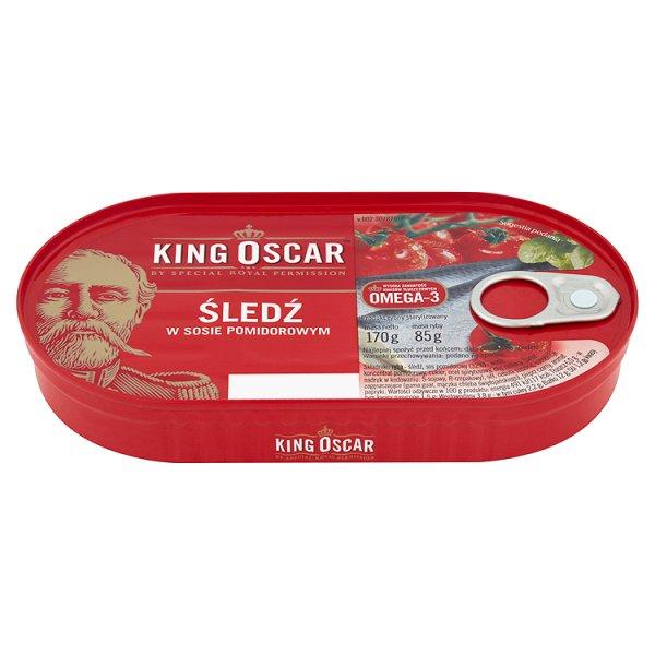 King Oscar Śledź w sosie pomidorowym 170 g