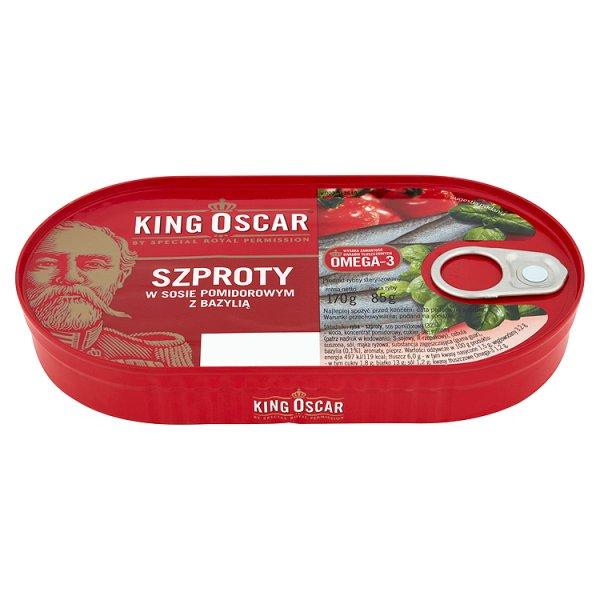 Szproty King Oscar z bazylią