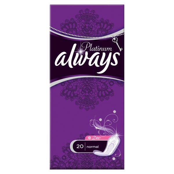 Always Platinum Deo Normal Wkładki higieniczne, 20 sztuk