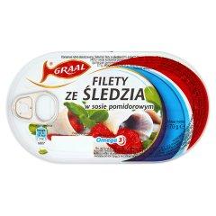 Filety śledziowe w sosie pomidorowym Graal