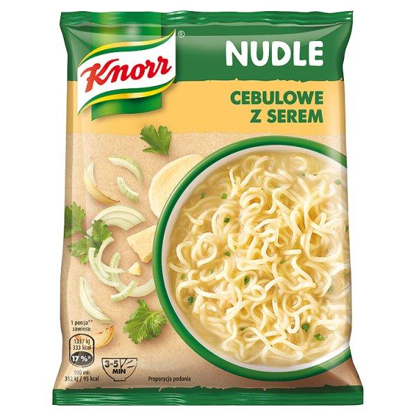 Nudle knorr zupa cebulowa z serem diabolo pomidoro