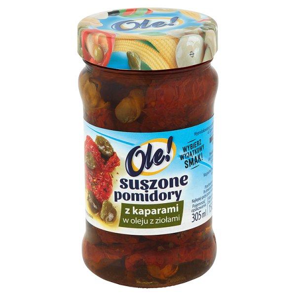 Suszone pomidory Ole! z kaparami w oleju z ziołami