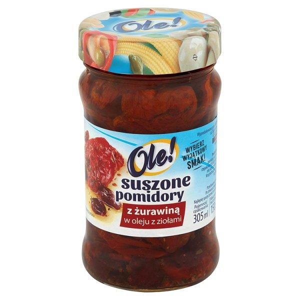 Suszone pomidory Ole! z żurawiną w oleju z ziołami