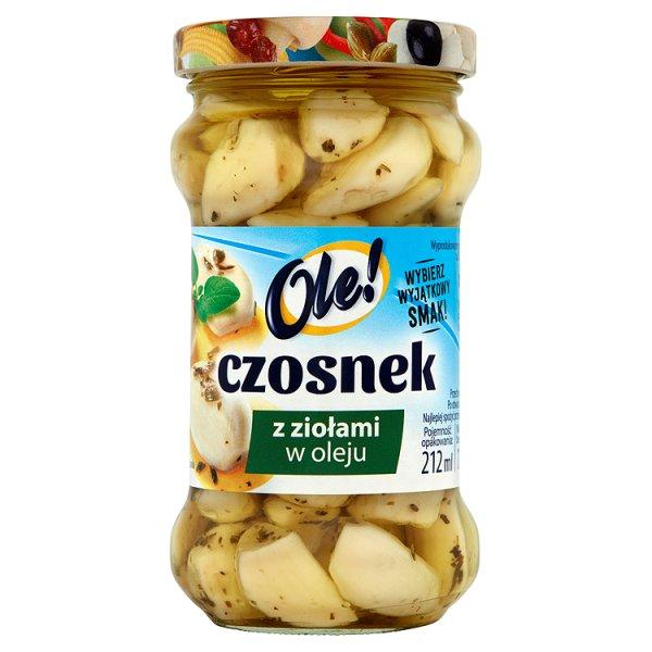 Ole! Czosnek z ziołami w oleju 190 g