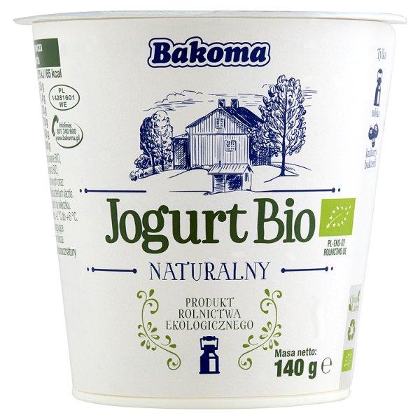 Bakoma Jogurt Bio naturalny 140 g